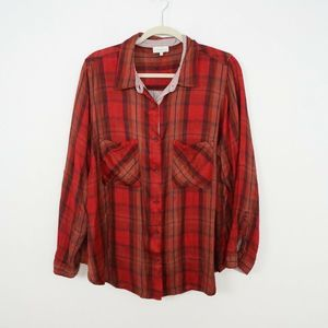 Lucky Brand Plus Size Plaid Top